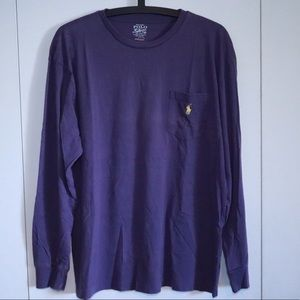 Men's Purple Long Sleeve Shirt